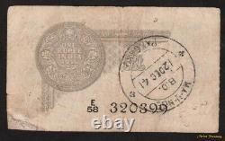 1935 BRITISH INDIA 1 RUPEE P-14a KING GEORGE V J. W. KELLY KGV F/VF REPAIR