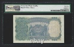 1937 INDIA 10 Rupees, P-19a Taylor, PMG 64 EPQ UNC, Rare Grade For This Type