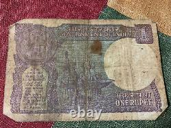 1986 Indian one Rupees Note Antique Collectors! RARE