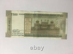 500 Rupees Indian Currency Note in 786 Series