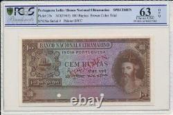 BNU Portuguesa India 100 Rupias ND(1945) Color Trial Specimen PCGS 63OPQ
