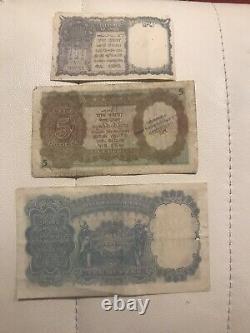 BRITISH INDIA 1,5, 10 Kgvi Notes