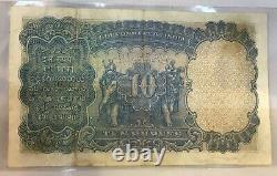 BRITISH INDIA RS Ten 10 NOTE PREFIX P SIGN J. W. Kelly EF+ George V ISSUE 1930