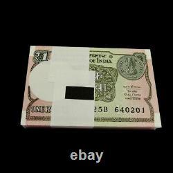 Brick1000 PCS, India 1 Rupee, 2015-2017, P-117, Banknotes, UNC