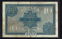 British India 10 Rs (1917) J B Taylor PICK#7b VF