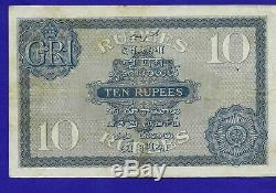 British India 10 Rupees (1917-30) Sign Denning KGV, 3rd issue