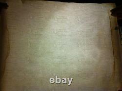 British India 10 Rupees George VI Shipwreck Watermark Paper Uncut Sheet