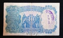British India 10 Rupees, KG V, 1933 Sign Kelly, Pick# 16b
