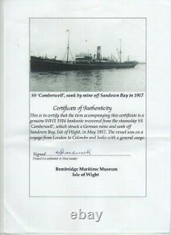 British India 1916, 10 Rupees, Uniface Sea Sunk note x 2, Laminated, P A10f