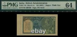 British India, King George V, 1 Rupee Banknote, # p14b. 1935. Choice UNC PMG 64