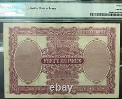 British India King George V 50 Rs Rupees BOMBAY 1928 PICK 9 B PMG 35