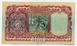 Burma 5 Rupees ND 1938 Pick 4 XF+ Circulated Banknote