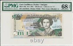Central Bank East Caribbean States $100 ND(1993) Prefix & Suffix A PMG 68EPQ