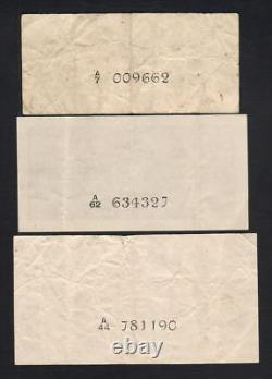 Ceylon P-43a, 44b, 45a. 1942 10c(F), 1949 25c(EF) & 1948 50c(VF). 3 Notes
