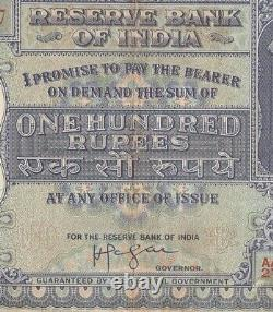 Collectible INDIAN Note OLD 100 RS Paper banknote BIG HIRAKUD DAM G5-29