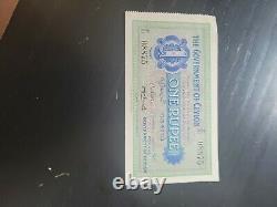 Government of Ceylon Sep 1927 1 Rupee Note