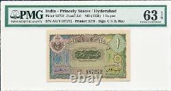 Hyderabad India-Princely States 1 Rupee ND(1950) S/No xx7272 PMG 63EPQ