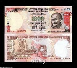 INDIA 1000 1,000 RUPEES x 20 Pcs = 20000 Rupees GANDHI UNC 1/5 Bundle Lot NOTE