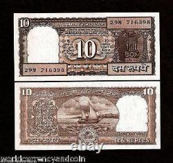 INDIA 10 RUPEES P-60 A 1997 x 100 Pcs FULL BUNDLE BOAT UNC INDIAN MONEY LOT NOTE