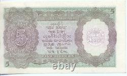 INDIA British India 5 Rs ND (1937) Sign. J. B. Taylor WMKKing George VI P. #18a