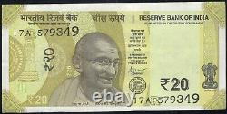 INDIA NEW SERIES 20 Rs MASSIVE MISPRINT ERROR