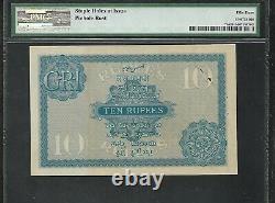 INDIA Old 10 Rupee Note (1917/30) P7b PMG 53 AU