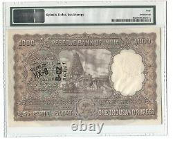INDIA PICK 46a BOMBAY 1954-57 B RAMA RAO 1000 RUPEES PMG 40