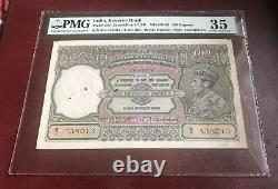 INDIA -P-20 100 RS KGVi ND(1943) Pmg 35