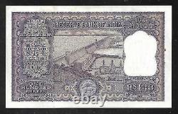 INDIA Paper Money Old 100 Rupees Note (1957/62) P44 AU