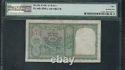 INDIA Paper Money Old 5 Rupees Note (1943) P23a PMG XF40