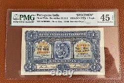 INDIA /Portuguese / Banco Nacional Ultramarino /1 Rupia Goa Specimen