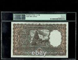 India 1000 Rs 1975-77 K R Puri PMG-67 P65b Superb Gem 67