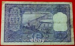 India 100 Rupees 1957-62, P-44, Avf/vf
