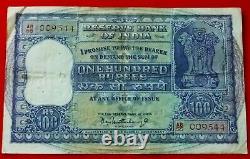 India 100 Rupees 1957-62, P-45, Vf