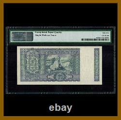 India 100 Rupees, 1969 P-70a Gandhi Sig# 76 PMG 65 EPQ Commemorative Unc