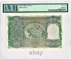 India 100 Rupees ND (1943) Pick 20b Jhun4.7.2A PMG About Unc. 53