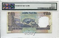 India 100rps Xxxx-rare First Prefix Telescopic Solid Number 0aa 888888 Pmg 63