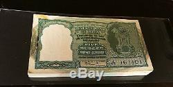 India 1951 5 Rupees, 2nd Issue Half Bundle-50 Consecutive Notes Pick#33