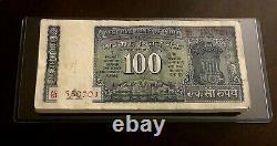 India 1977 100 Rupees, Pick#64 100 Note Bundle UNC