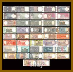 India 1 1000 Rupees (42 Pcs Set), 1957-2017 P-66-117 Pinholes Foxing (Au/Unc)