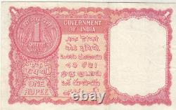 India 1 Rupee 1957 P R1 Series Z 9 Arab Gulf Issue Vf+ With Staples Holes