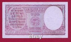 India 2 Rupees King George VI 1943 P17b Xf ++