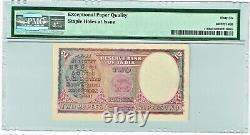 India 2 Rupees ND (1943) Pick 17b Jhun4.2.2 PMG Gem Uncirculated 66 EPQ