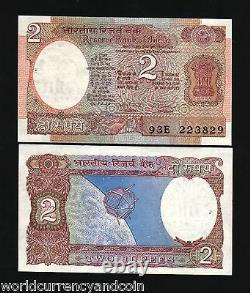 India 2 Rupees P79 1976 Fill Bundle Satellite Space Craft Unc Lot 1000 Pcs Note