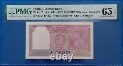 India 2 rupees 1943, P-17b, PMG GEM UNC 65 EPQ