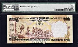 India 500 Rupees ND (2000-02) Letter C P-93d GEM UNC PMG 66 EPQ FINEST Grade