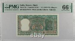 India 5 Rupee. P-54a. PMG 66 EPQ GEM UNC