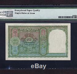India 5 Rupees 1943 P-23a PMG Gem Unc 65 EPQ Rare Condition