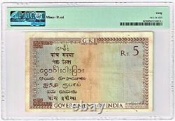 India 5 Rupees ND (1917-30) Pick 4c Jhun3.4.2 PMG Very Fine 30
