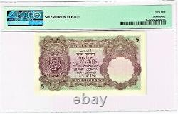 India 5 Rupees ND (1928-35) Pick 15b Jhun3.5.2 PMG Choice Extremely Fine 45